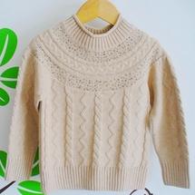 冬装韩版新款童装女童毛织外衣儿童针织毛衣套头衫