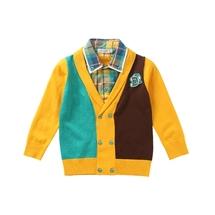 童装秋冬装毛织外套中大童儿童针织毛衫开衫外衣